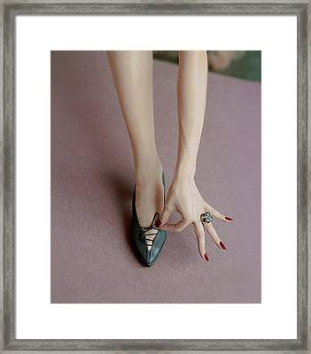 A Julianelli Shoe Framed Print by Richard Rutledge
