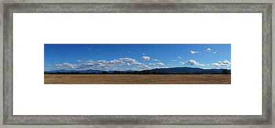A June Panorama In Southern Oregon Framed Print