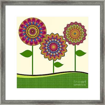 A Kaleidoscope Of Flowers Framed Print