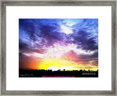 A Kansas Sunrise With The Cows Framed Print by PainterArtist FIN