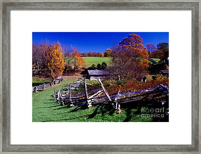 A Kentucky Mountain Homestead Framed Print