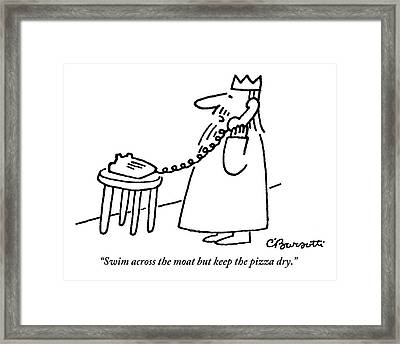 A King Gives Instructions On The Telephone Framed Print by Charles Barsotti