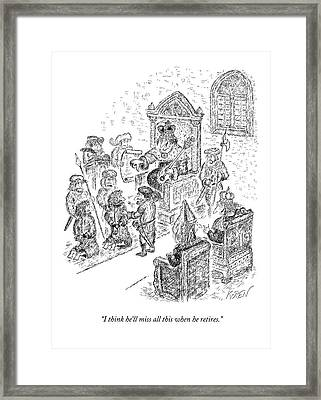 A King Gives The Execution Thumbs Framed Print
