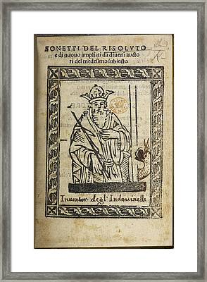 A King With A Crown Framed Print by British Library