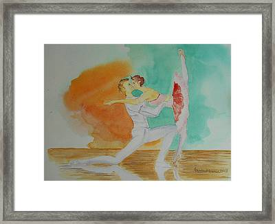 A Kiss In Ballet  Framed Print by Geeta Biswas