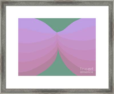 A Kiss Is Just A Kiss Framed Print by Henry Manning