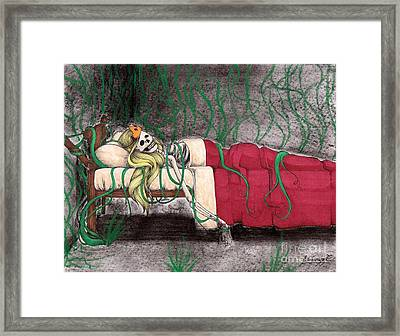 A Kiss That Never Came Framed Print by Bibo