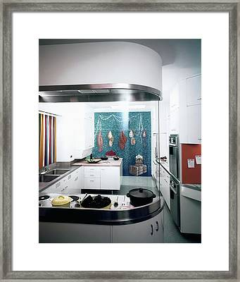 A Kitchen Designed By Valerian S. Rybar Framed Print