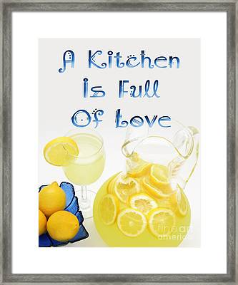 A Kitchen Is Full Of Love 3 Framed Print by Andee Design