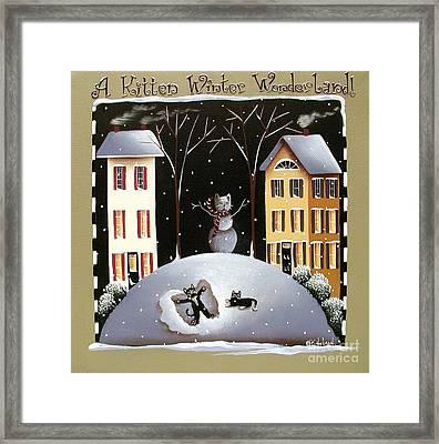 A Kitten Winter Wonderland Framed Print by Catherine Holman