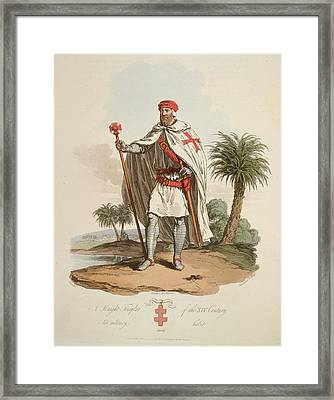 A Knight Templar Framed Print by British Library