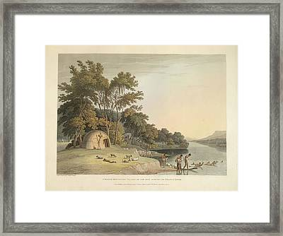 A Korah Hottentot Village Framed Print