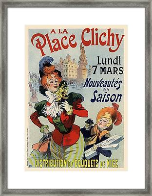 A La Place Clichy Framed Print by Gianfranco Weiss