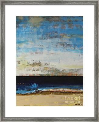 A La Plage Cropped Framed Print by Sean Hagan