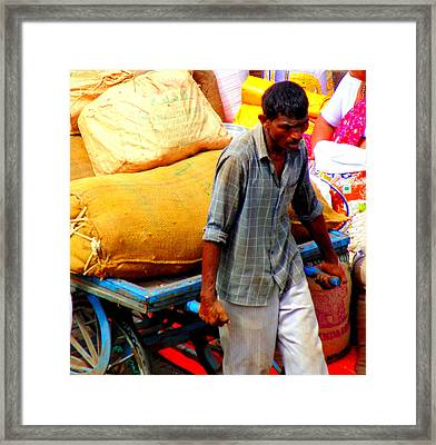 A Laborer Framed Print by Mannoj Umale