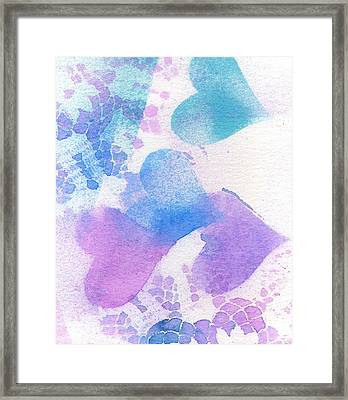 A Lace Of Hearts. Framed Print