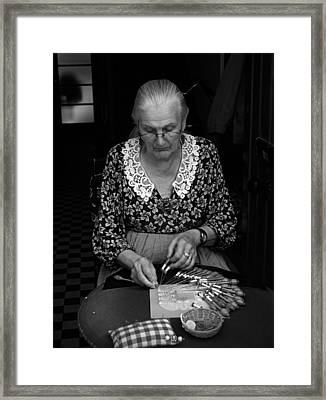 A Lacemaker In Bruges Framed Print by RicardMN Photography