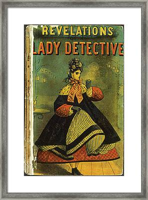 A Lady Detective Framed Print