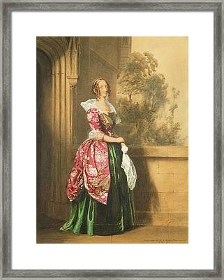A Lady In Her Costume Worn Framed Print