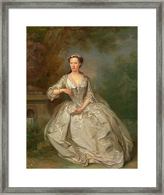 A Lady With A Book Portrait Of A Lady Signed Framed Print by Litz Collection