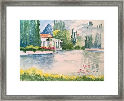 A Lake In Tuscany Framed Print
