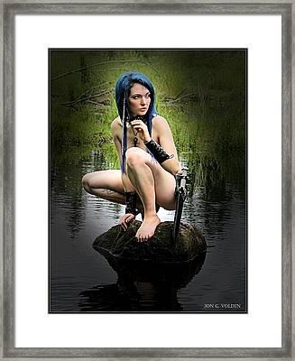 A Lake Sprite Framed Print