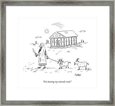 A Lamb Says To Another Framed Print