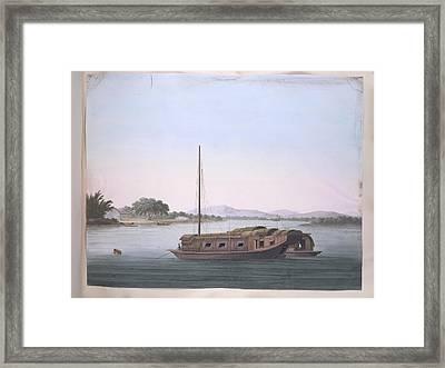 A Large Boat Framed Print