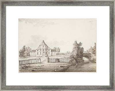 A Large House In The English Countryside Framed Print