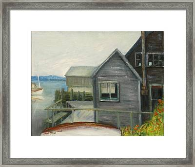 A Last Look At Port Clyde Framed Print
