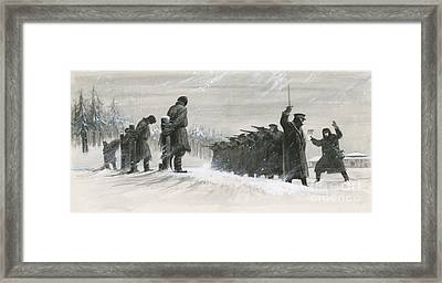 A Last Minute Reprieve Saved Fyodor Dostoievski From The Firing Squad Framed Print by  Ralph Bruce
