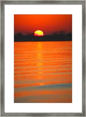 A Last Sunset Framed Print by Karol Livote