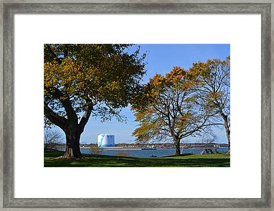 A Late Fall Afternoon On The Salem Willows Framed Print