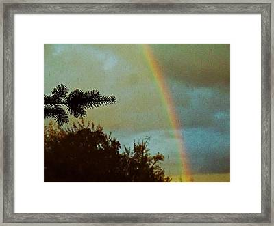 A Late Summer Sky Framed Print