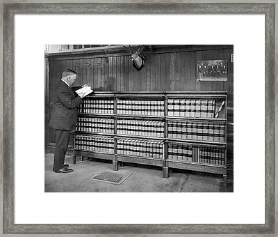 A Lawyer In His Library Framed Print