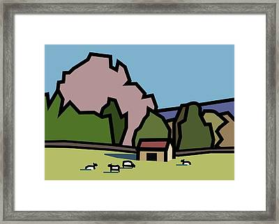 A Lazee Sunny Afternoon. Framed Print by Kenneth North