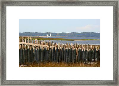 Framed Print featuring the photograph A Lazy Morning Along The Mighty Cape Fear River by Phil Mancuso