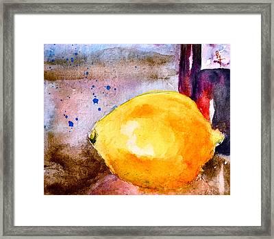 A Lemon Framed Print