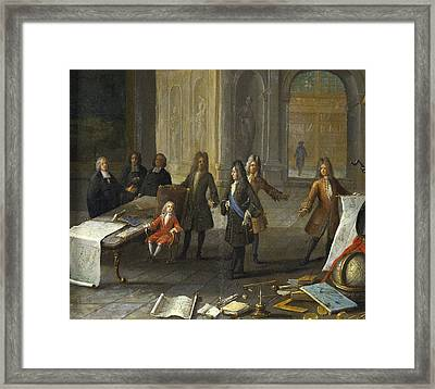 A Lesson Being Given To The Young Louis Framed Print