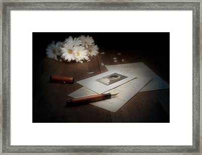 A Letter From Mary Still Life Framed Print