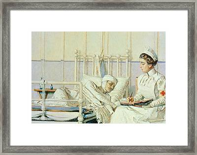 A Letter To Mother Framed Print by Piotr Petrovitch Weretshchagin