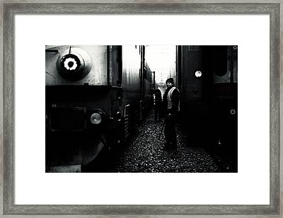 A Life Between Trains Framed Print