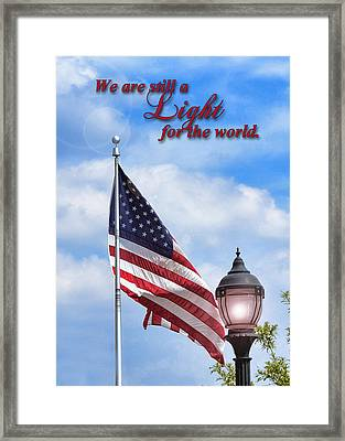 A Light For The World Framed Print