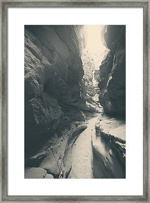 A Light From Above Framed Print