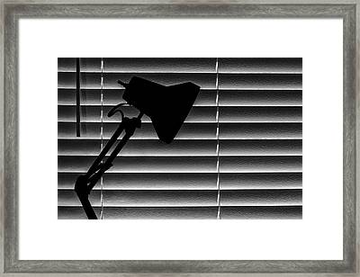 A Light In The Dark Still Life Framed Print