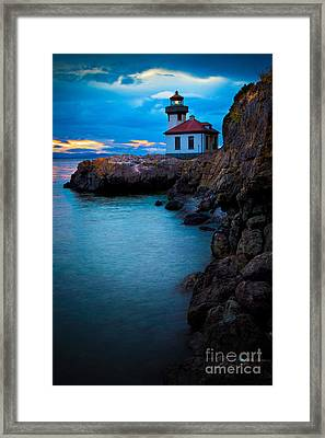 A Light In The Darkness Framed Print by Inge Johnsson