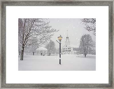 A Light In The Storm Framed Print by Gordon Ripley