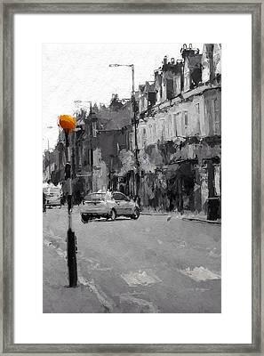 A Light On A Grey Day Framed Print