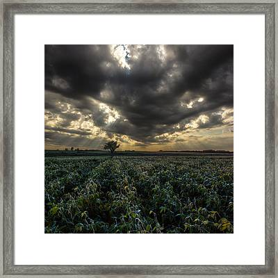 A Light Shines Through Framed Print by Aaron J Groen