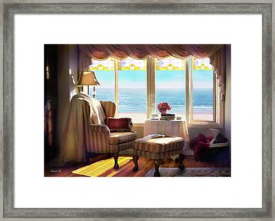 A Light That Shines In Peace Framed Print